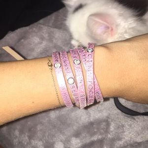 Jewelry - A light pink humanity for all wrap bracelet